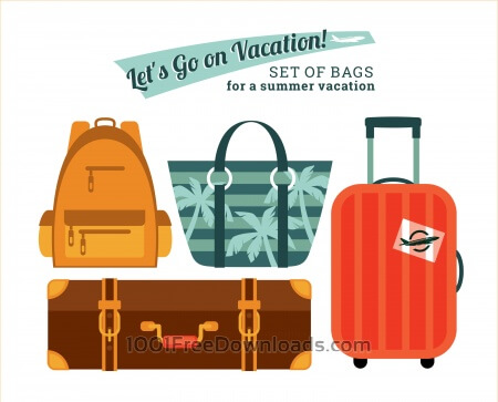 Free Illustration bags for holidays