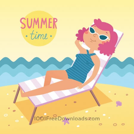 Free Summer time vector card