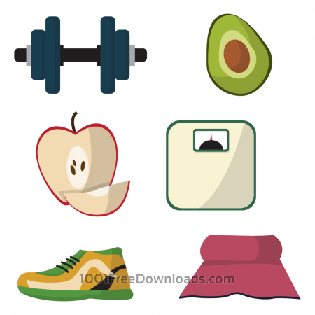 Free Healthy lifestyle diet vectors