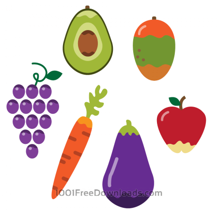 Healthy vegetables and fruit