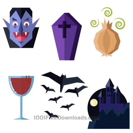 Free Dracula themed vector set