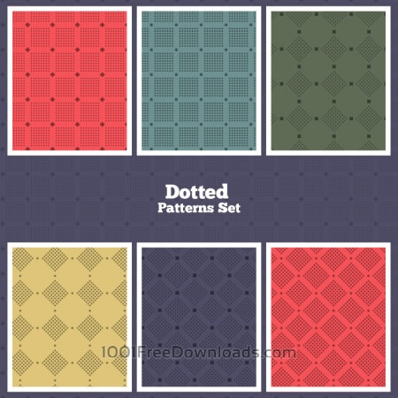 Free Vector Dotted Patterns Set