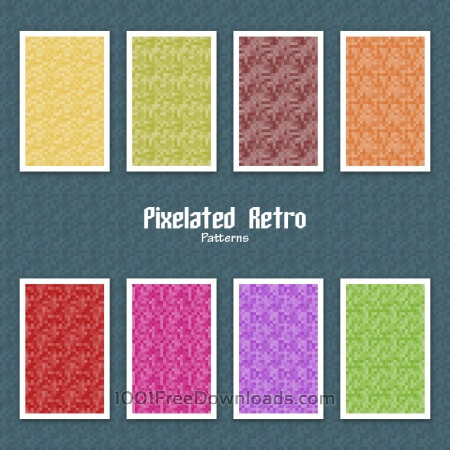 Free Pixelated Retro Patterns