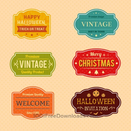 Free Holiday Vector Badges