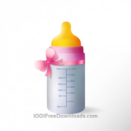 Free Baby bottle with cute ribbon