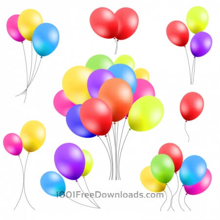 Free Vector set of balloons