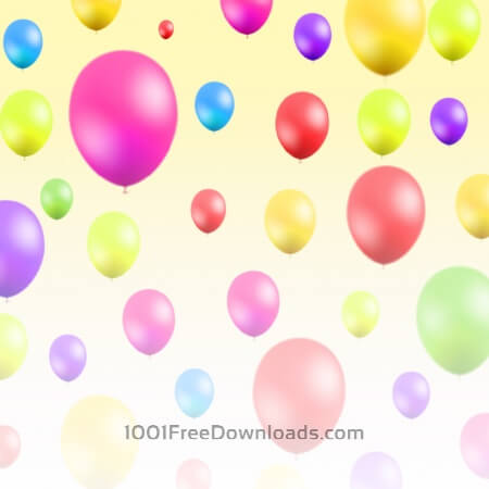 Free Abstract illustration  with balloons
