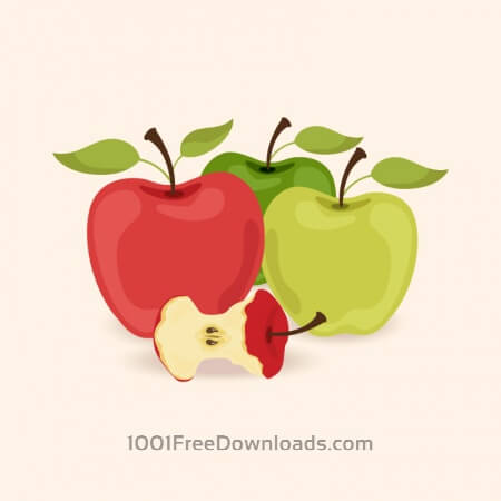 Free Vector illustration with apples