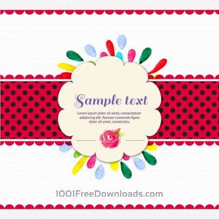 Free Watercolor abstract illustration with label