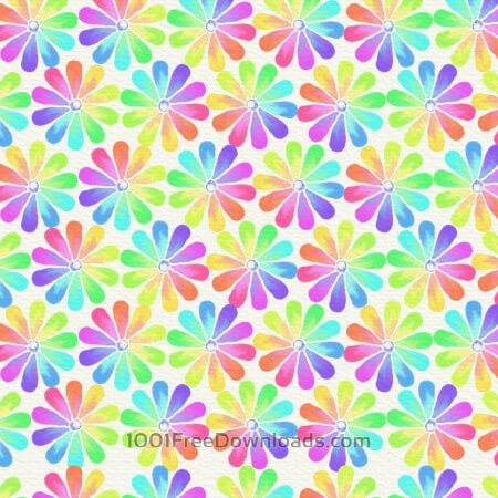 Free Watercolor abstract illustration with summer flowers