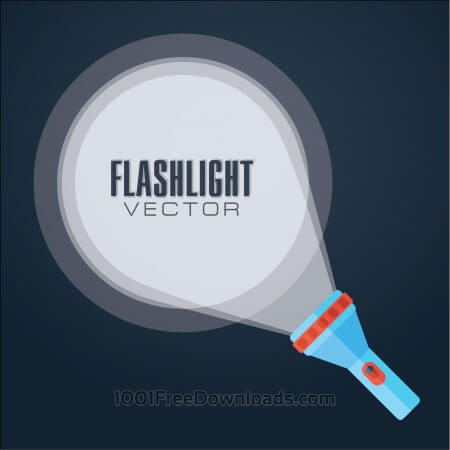 Free Flat vector illustration flashlight.