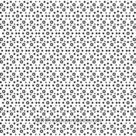 Free Circular Black and White Pattern