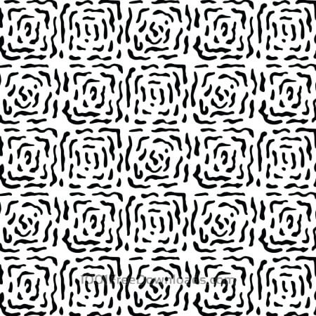 Free Modern Hand Drawn Square Black and White Pattern