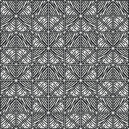 Free Hand Drawn Black and White Geometric Pattern