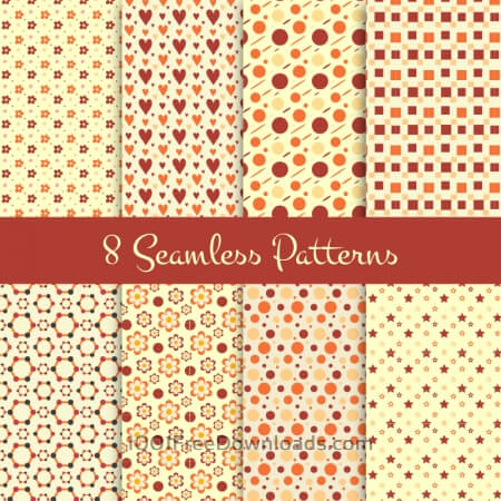 Free 8 Seamless Patterns