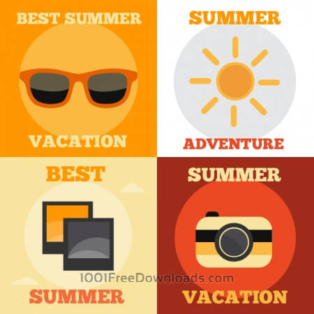 Free Summer Vacation Icons