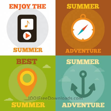 Free Summer Activity Icons