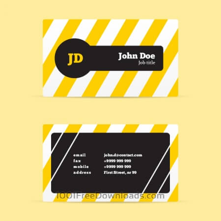 Free Stripped Business Card