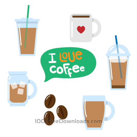 Free Various coffee vectors