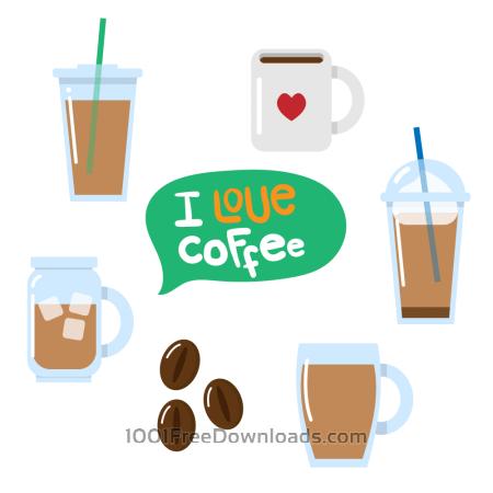 Free Various coffee vectors