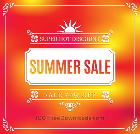 Free Summer sale abstract blur background.