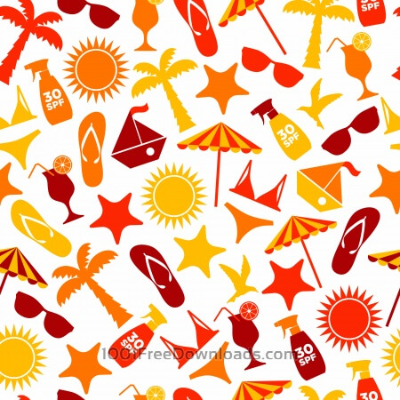 Free Seamless pattern of summer
