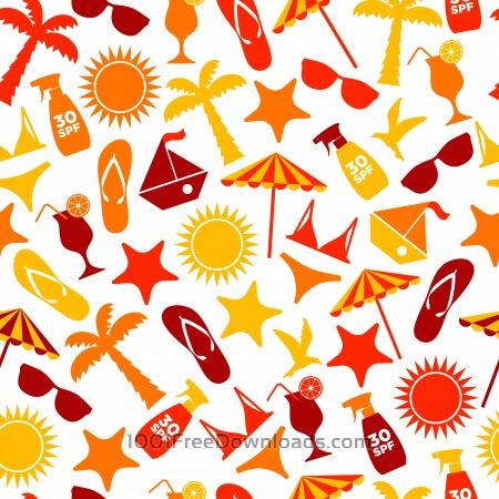 Free Seamless pattern of summer
