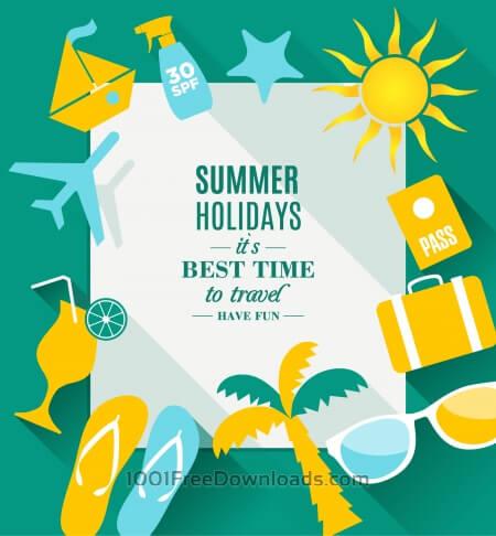 Free Summer holidays texture