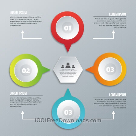 Free Infographic design on the grey background