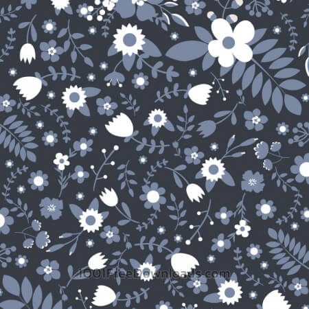 Free Floral vector pattern