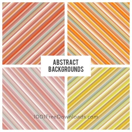 Free Diagonal strokes backgrounds set