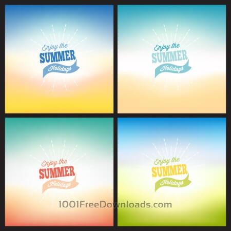 Free Summer blurred backgrounds set