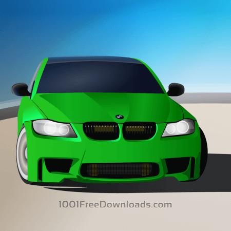Free green sports car