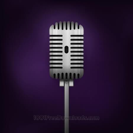 Free Retro Vector Microphone