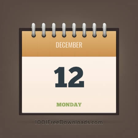 Free Detailed Vector Calendar Icon