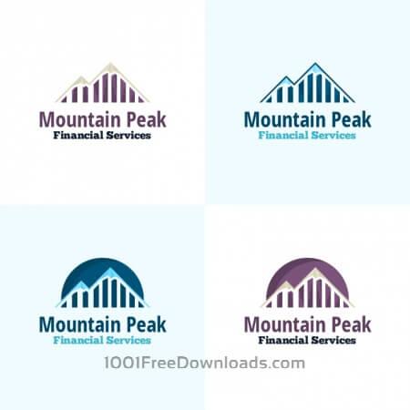 Free Mountain Peak Vector Logo