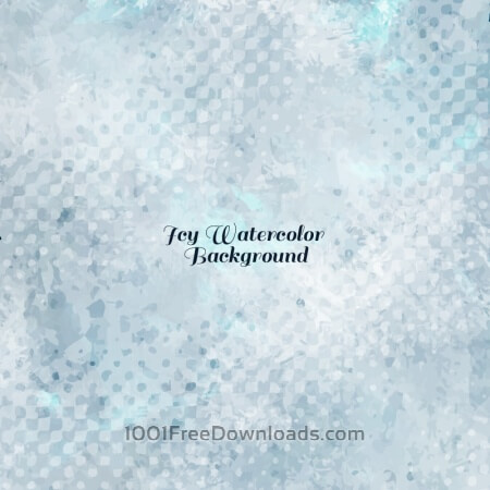 Free Icy Watercolor Vector Background