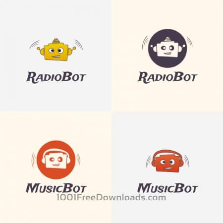Free Radio Robot Vector Logo