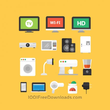 Free Electronic Appliance Icons
