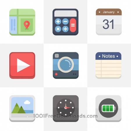 Free Flat Icons for UI Design