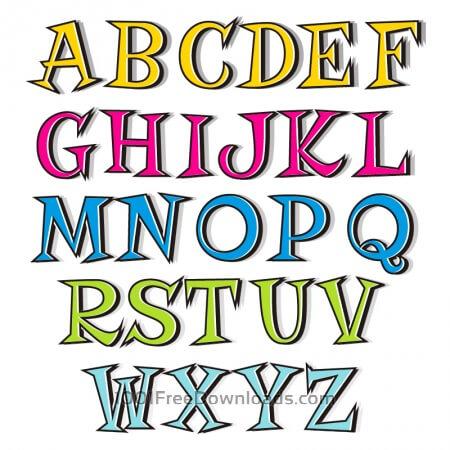 Free Doodle alphabet