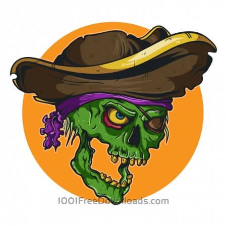 Free Vintage pirate skull