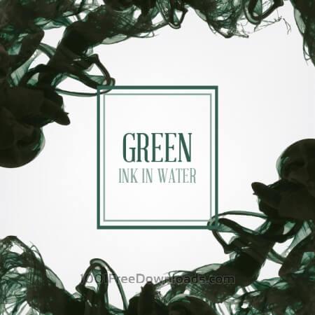 Free Black/green ink in water