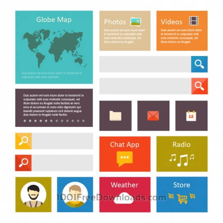 Free Infographic webpage elements