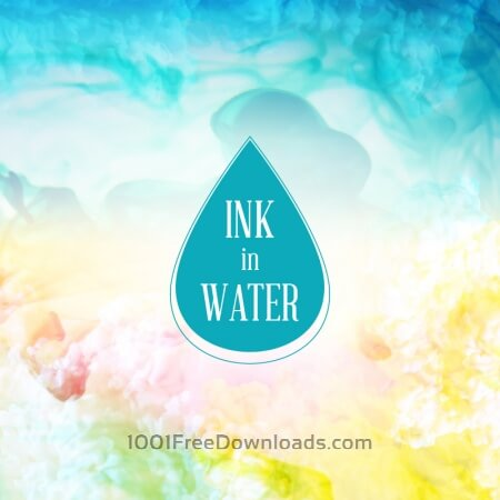 Free Ink in water background