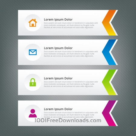 Free Infographic arrow design