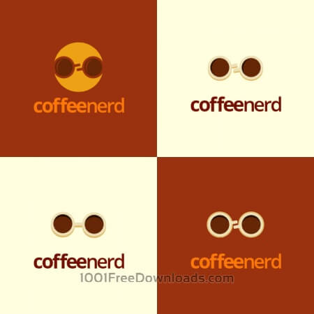 Free Coffee Nerd logo design