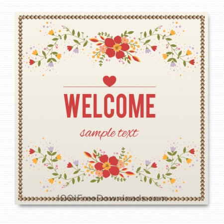 Free Floral card