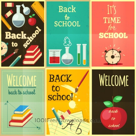 Free Back to school set of illustrations