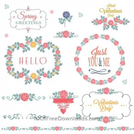 Free Flower set of decorations